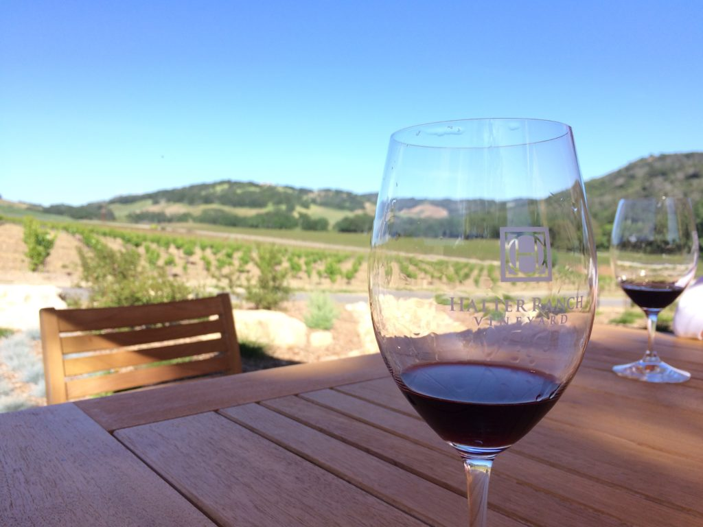 Enjoying wine with a view in Paso Robeles