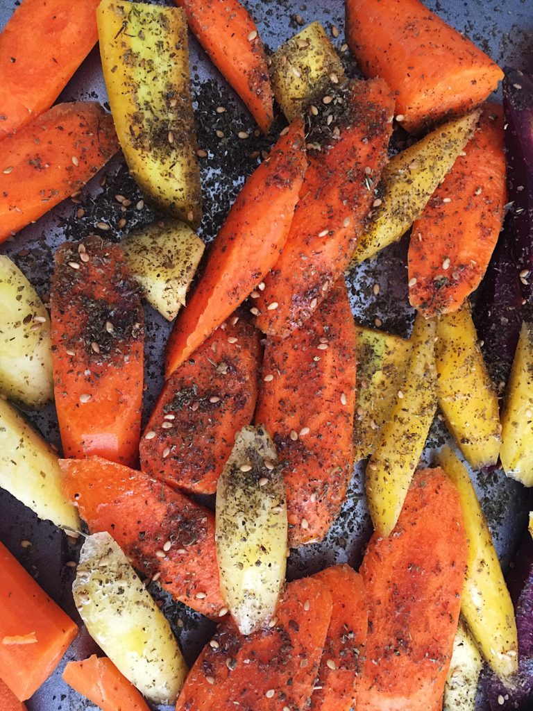 Carrots with Za'atar seasoning