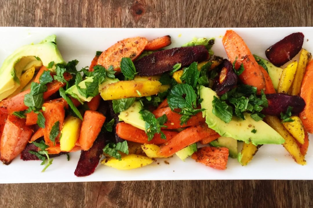 Roasted Carrot. Avocado and Za'atar Salad