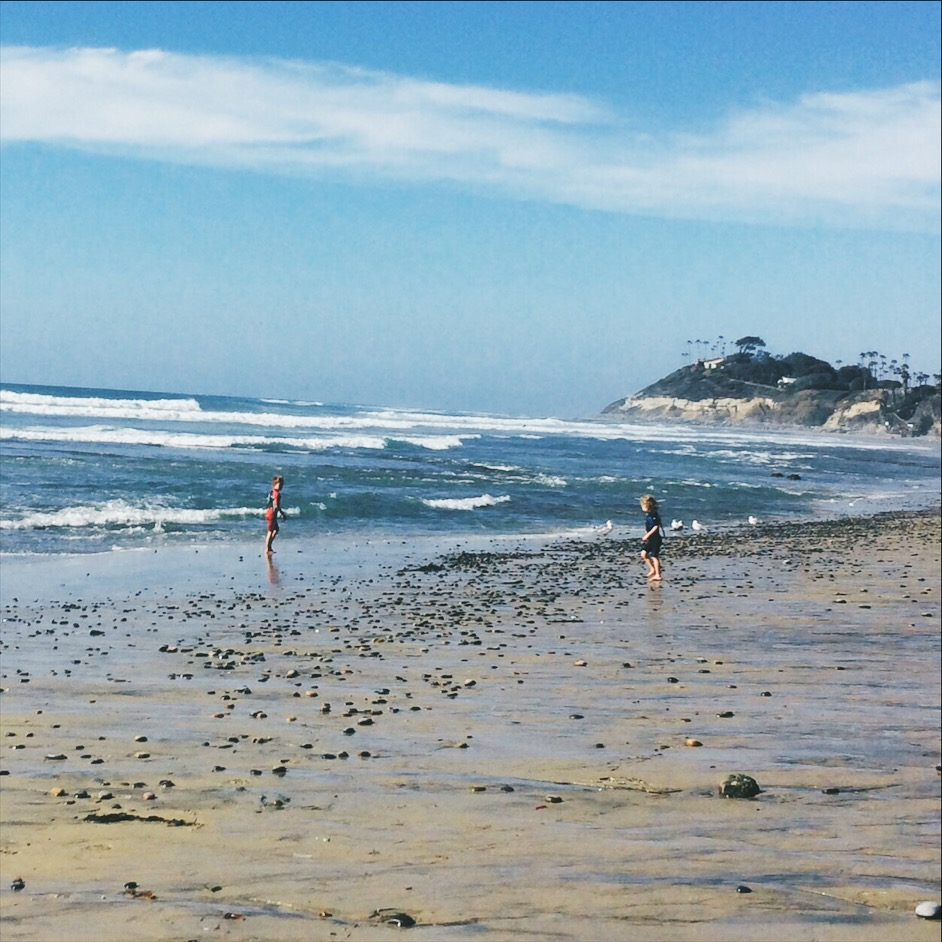 Playing at the beach in Encinitas