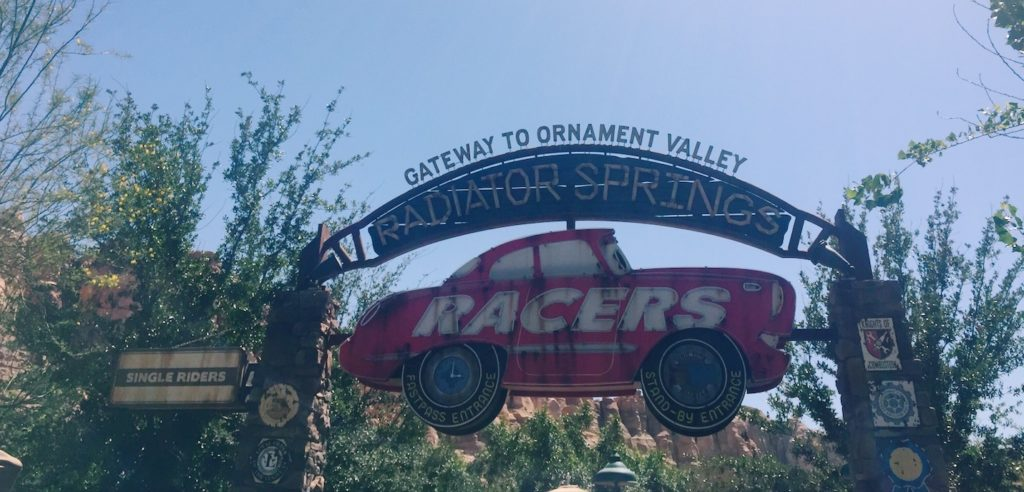 Radiator Springs Racers at California Adventure