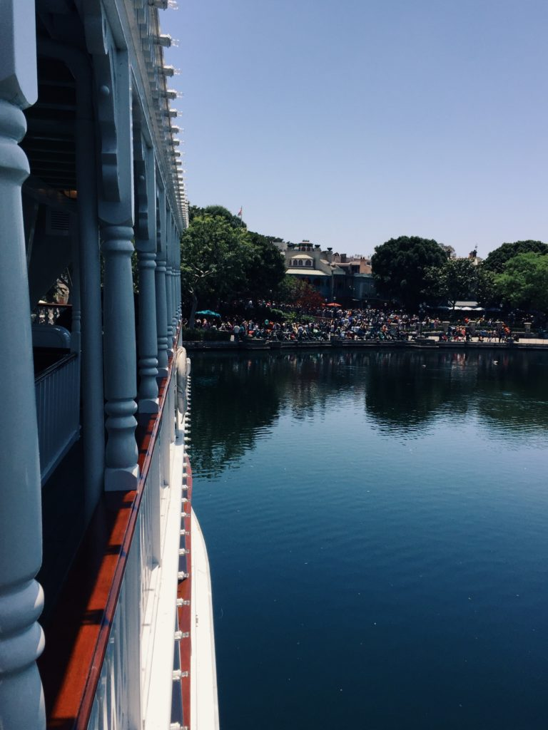 Hanging out on the Ferry Boat at Disneyland