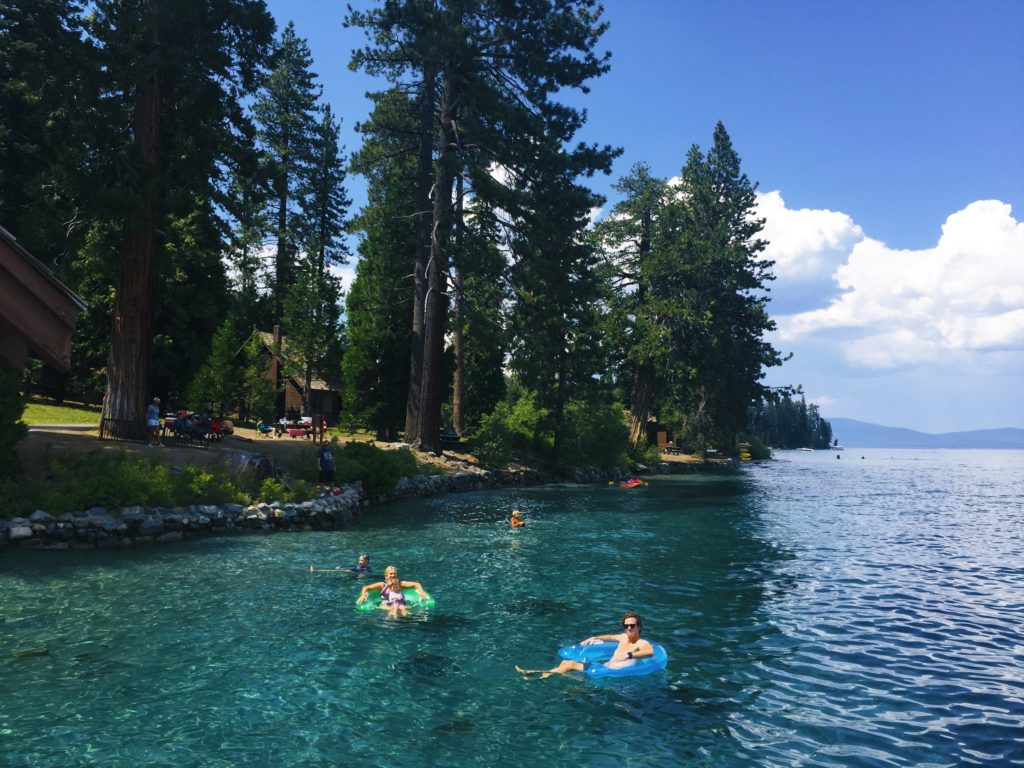swimming in sugar pine point