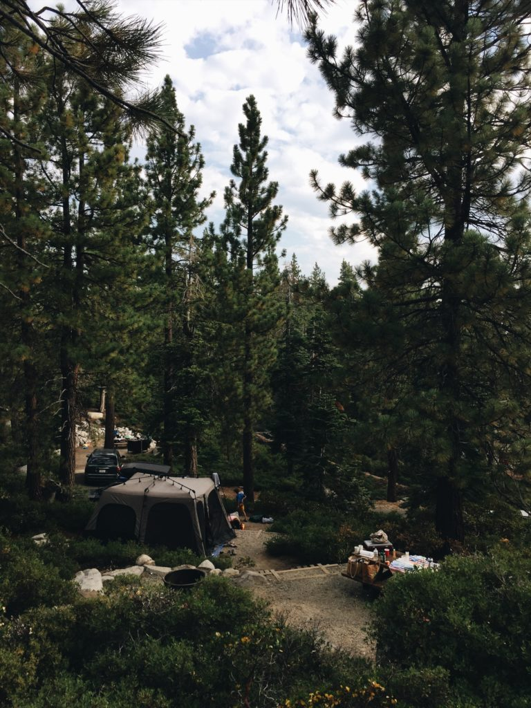 camping in Lake Tahoe