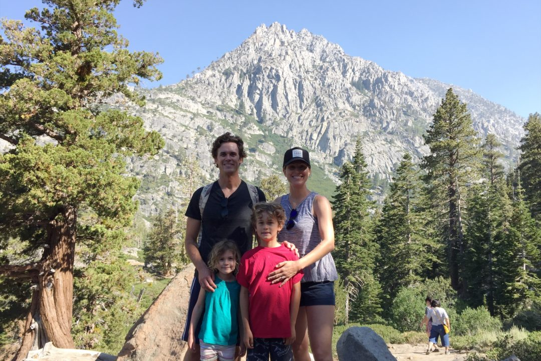 Family hike in Tahoe