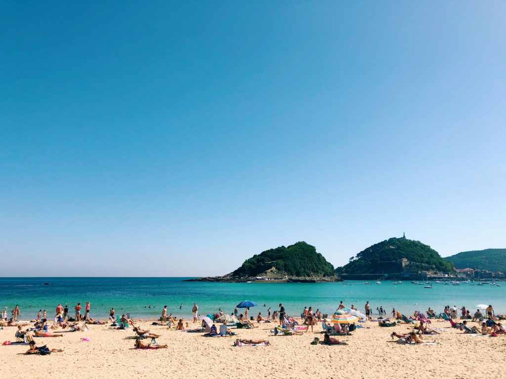 Beach in San Sebastian