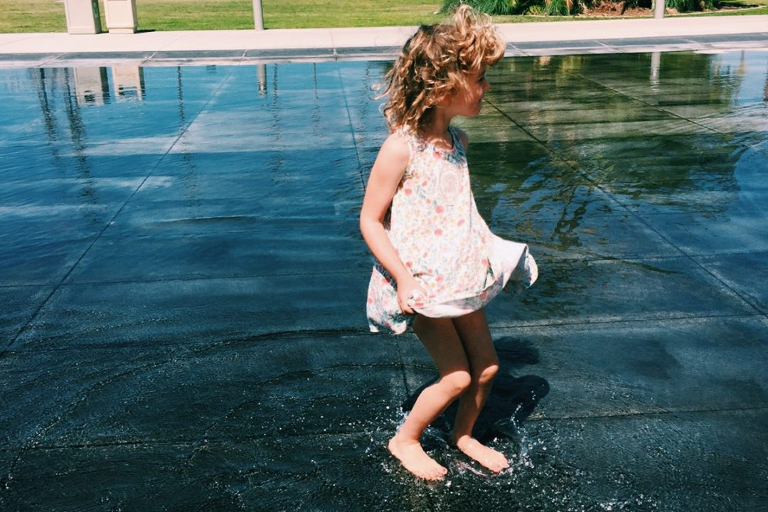 Playing in the water in San Diego
